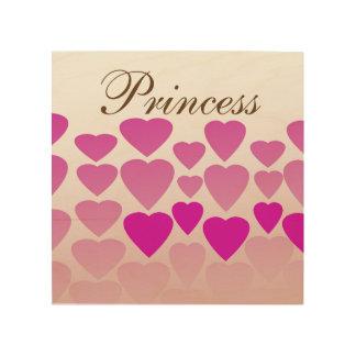 """Prinses 8 van het hart """" x8"""" het Houten Art. van Foto Op Hout"""