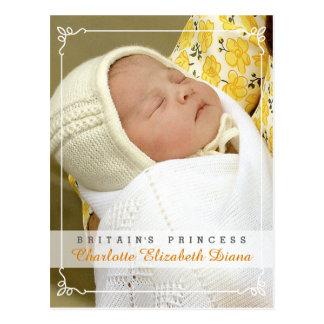 Prinses Charlotte Elizabeth Diana - William Kate Briefkaart