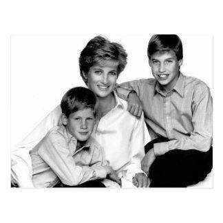 Prinses Diana en zonen Briefkaart
