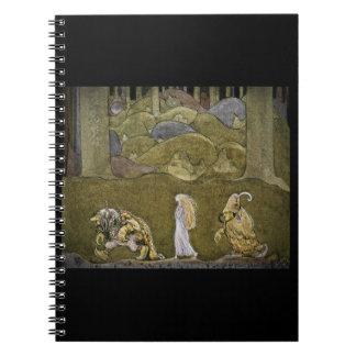 Prinses en de Sleeplijnen die in Bos lopen Notitie Boek