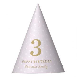 Prinses in Paarse Verjaardag Feesthoedjes