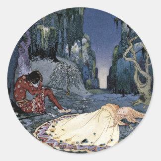 Prinses In slaap in Bos Ronde Sticker