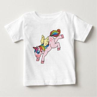 Prismatische Gevleugelde Eenhoorn Baby T Shirts
