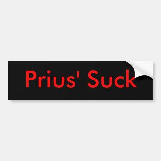 Prius zuigen bumpersticker