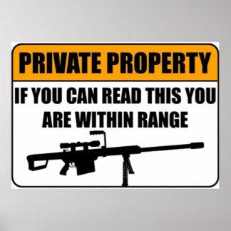 Privé-bezit - als u Dit… Poster