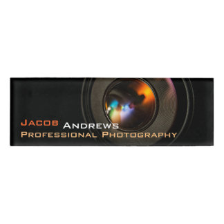 Pro Fotografie (de Lens van de Camera) Naambadge
