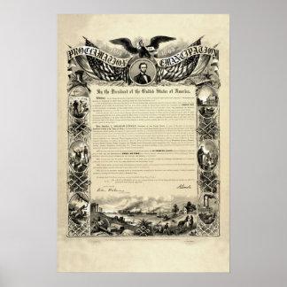 Proclamatie van Emancipatie door Abraham Lincoln Poster