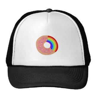 Proef de Doughnut van de Regenboog Petten Met Netje