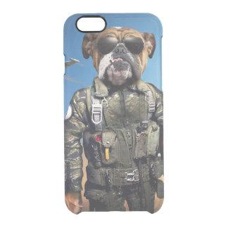 Proef hond, grappige buldog, buldog doorzichtig iPhone 6/6S hoesje