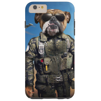 Proef hond, grappige buldog, buldog tough iPhone 6 plus hoesje