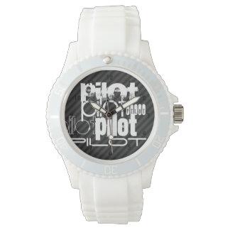 Proef; Zwarte & Donkergrijze Strepen Horloge