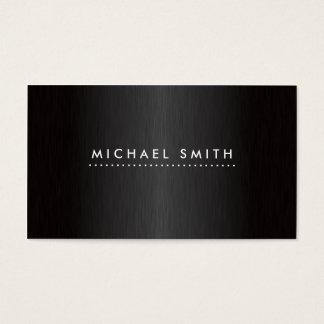 Professioneel Elegant Modern Zwart Geborsteld Visitekaartjes