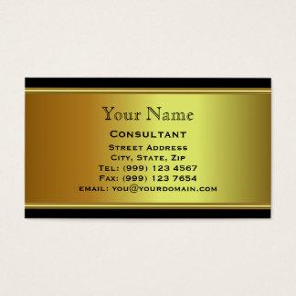 Professioneel gouden visitekaartje visitekaartjes