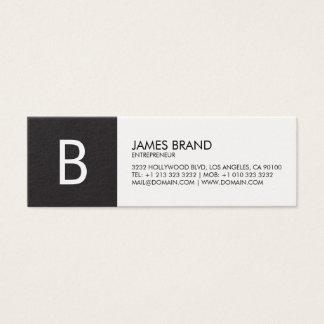 Professioneel Zwart-wit Monogram Mini Visitekaartjes