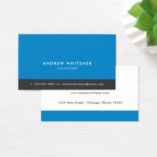 Professionele Blauwe Minimalistic Visitekaartjes