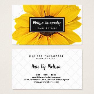 Professionele Bloemen Gele Eenvoudige Elegant van Visitekaartjes