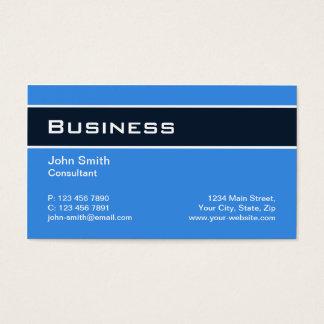 Professionele Duidelijke Elegante Moderne Blauwe Visitekaartjes
