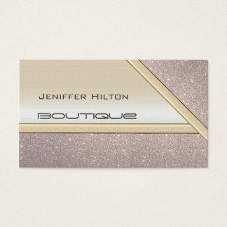 Professionele elegante elegante glanzende glittery visitekaartjes
