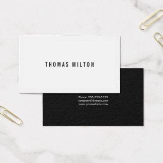 Professionele Minimale Zwarte Grijze Witte Visitekaartjes