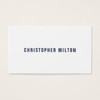 Professionele Minimalistisch - Blauwe Witte Visitekaartjes