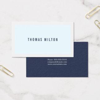 Professionele Minimalistische Blauwe Witte Visitekaartjes