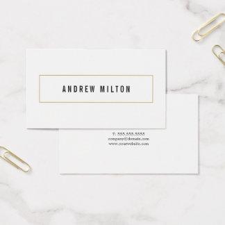 Professionele Minimalistische Zwarte Witte Visitekaartjes