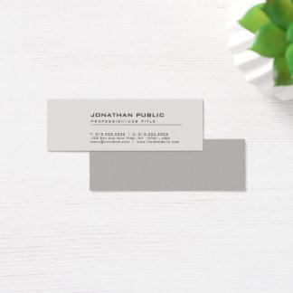 Professionele Moderne Creatieve Elegante Grijze Mini Visitekaartjes