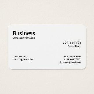 Professionele Moderne Duidelijke Eenvoudige Rond Visitekaartjes