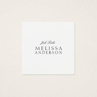 Professionele Moderne Elegante Minimalistisch Vierkante Visitekaartjes
