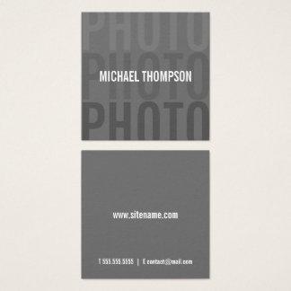 Professionele Moderne Fotograaf Vierkant Visitekaartjes