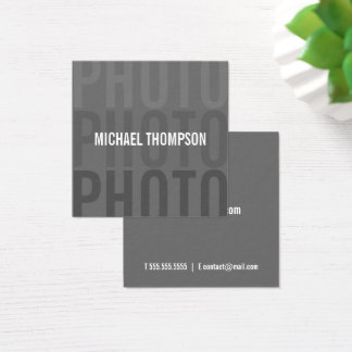 Professionele Moderne Fotograaf Vierkante Visitekaartjes