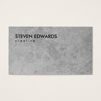 Professionele witte moderne grijze concrete visitekaartjes