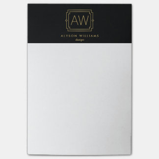 Professionele Zwart/het Goud van het Vintage Art Post-it® Notes