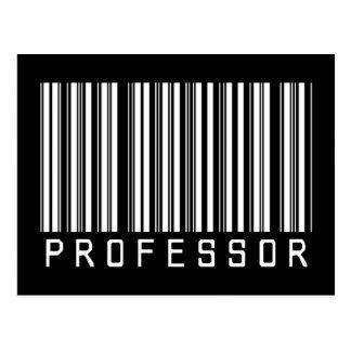 Professor Streepjescode Briefkaart