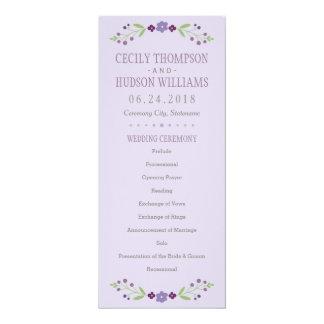 Programma | van de Ceremonie van het huwelijk 10,2x23,5 Uitnodiging Kaart