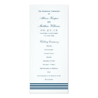 Programma | van de Ceremonie van het huwelijk de 10,2x23,5 Uitnodiging Kaart