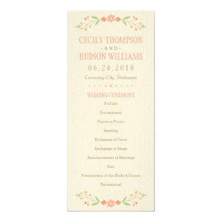 Programma | van de Ceremonie van het huwelijk het 10,2x23,5 Uitnodiging Kaart