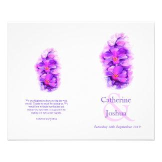 Programma van het de waterverf het paarse Huwelijk Flyer