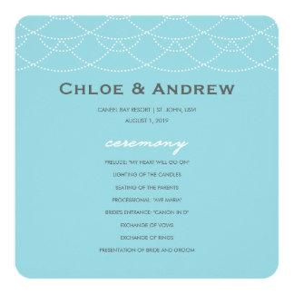 Programma | van het huwelijk Golven 13,3x13,3 Vierkante Uitnodiging Kaart