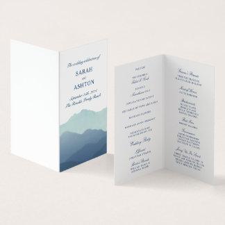 Programma van het Huwelijk van de bergketen het Kaart