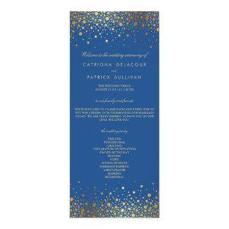 Programma van het Huwelijk van de Confettien van 10,2x23,5 Uitnodiging Kaart