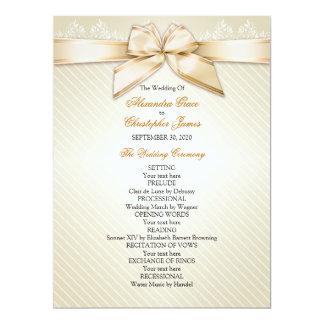 Programma van het Huwelijk van de Strepen van het 16,5x22,2 Uitnodiging Kaart