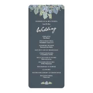 Programma van het Huwelijk van de Tuinen van de 10,2x23,5 Uitnodiging Kaart