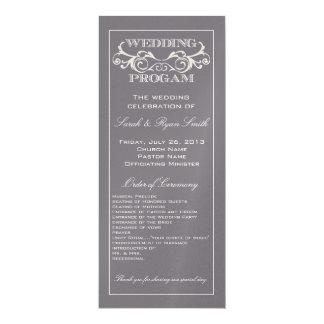 Programma van het Huwelijk van de vintage 10,2x23,5 Uitnodiging Kaart