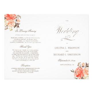 Programma van het Huwelijk van de Waterverf van de Folder