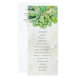 Programma van het Huwelijk van de woestijn het 10,2x23,5 Uitnodiging Kaart