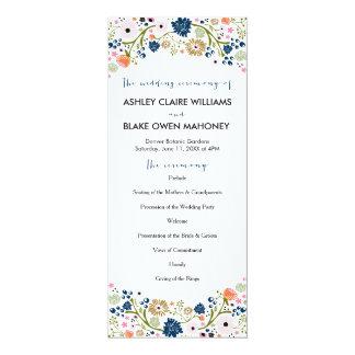 Programma | van het Huwelijk van het mooie Boeket 10,2x23,5 Uitnodiging Kaart