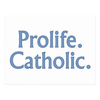Prolife. Katholiek Briefkaart