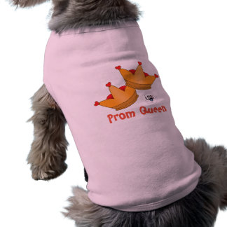 Prom Koningin Design Pet Tank Shirt