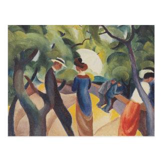 Promenade door August Macke Briefkaart